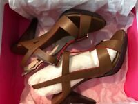 Boden tan ladies heels- never worn