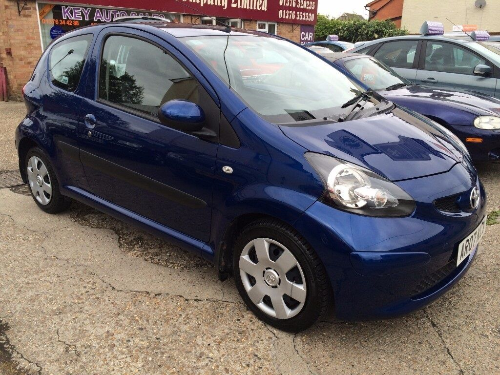 toyota aygo blue vvt i 3dr automatic blue 2007 in braintree essex gumtree. Black Bedroom Furniture Sets. Home Design Ideas