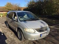 2003 CHRYSLER GRAND VOYAGER LIMITED AUTO SILVER 7 SEATER ELECTRIC DOORS/ DVD