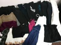 Women bundle clothes size 8 (small)