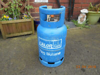 calor gas 7kg gas bottle aprox 1/2 - 3/4 full