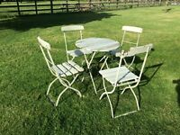 vintage french cafe folding table and chairs patio set