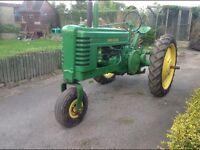 John Deere model Bn tractor