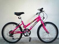 "(2150) 20"" Lightweight Steel RALEIGH GIRLS CHILDS MOUNTAIN BIKE BICYCLE Age: 7-10; Height: 120-140cm"