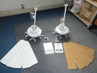 """Ceiling Fans x 2 Fantasia Riviera 132cm/52"""" with 5 white and/or wood blades"""