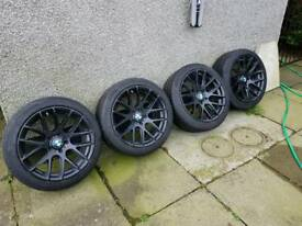 BMW f30 alloys and toyo winter tyres
