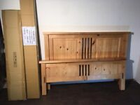 NEW Ex display Solid pine KINGSIZE bed. Free delivery in Belfast. RRP £549