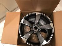 """NEW 4 x 19"""" inch Audi Rotor Arm Alloy Wheels Grey A3 A4 A5 A6 RS3 RS4 RS5 RS6 S5 S3 S4 TTRS 3thv3p"""