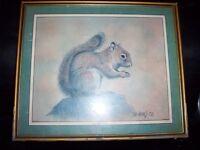 Artwork: ' red squirrel'