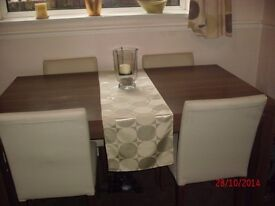 Dining table and 4 chairs only £50