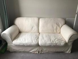 2-seated fabric sofa