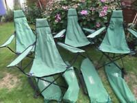 Royal Camping, Fishing Chairs x 4
