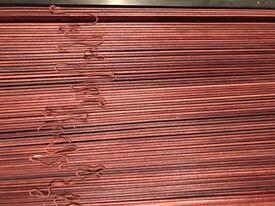 2 wooden Venetian blinds