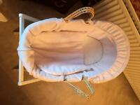 Mamas and Papas Large Moses basket and stand