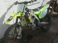 ** crf450 twinpipe 2014 adidas Edition swap px car van ***