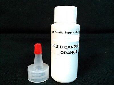 1 oz ORANGE LIQUID CANDLE DYE EVO FOR SOY WAX CANDLE MAKING SUPPLIES (Orange Candle Dye)