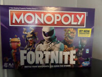 AS NEW USED ONCE FORTNITE MONOPOLY