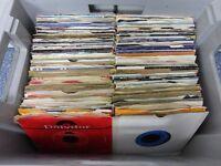 "Big Job Lot / Collection Of 194 x 7"" Singles / Records / Vinyl - Car Boot Stock"