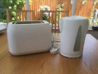 White kettle and toaster from Asda