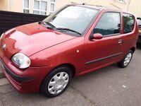 fiat seincento 1.1 cheap first car,very economical,long mot