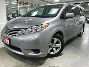 2016 Toyota Sienna LE, X RENTAL, NO ACCIDENT, NO PAINT WORK, LOW