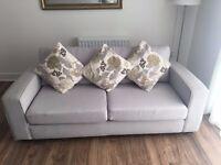 Light Grey Fabric 2 & 3 Seater Sofa Very Good Condition