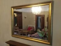 Two large gilt mirrors
