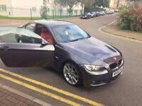 BMW M3 sport Grey 2008, Low Miles, Red Lether, Diesel, Brand new Wheels
