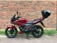 Honda CBF125 2014 with Honda top box mint condition Low mileage