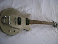 Aria PE Series electric guitar - Silver sparkle - P90s