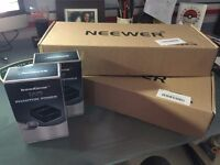 Neewer NW-700 Microphones with Phantom Power Units & XLR-XLR and XLR to 35mm cables. (2 sets)