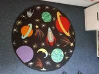 Space theme rug