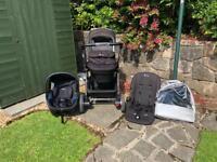 Pram & car seat including isofix base