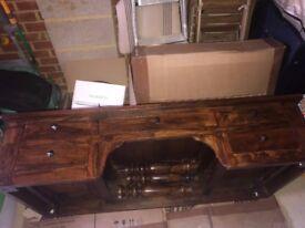 Stunning Solid Mahogany Desk & Matching Chair