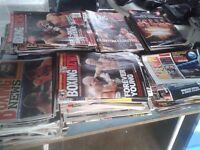 Quantity vintage Boxing News in good condition
