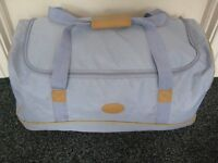 Light Blue Travel Bag with Wheels