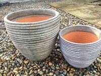 Indoor plant pots set of two
