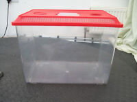 Large Plastic Tank with Ventilated Lid