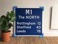 Custom/Personalised Contemporary ROAD SIGN - Travel Gift - Interior or Exterior