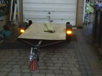 flat bed trailer suit quads or motor cycles poss grasscutters or buggy