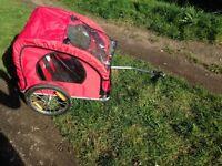 Twin seat bike trailer