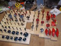 FRUED AND OTHER ROUTER BITS 1/2 PRICE
