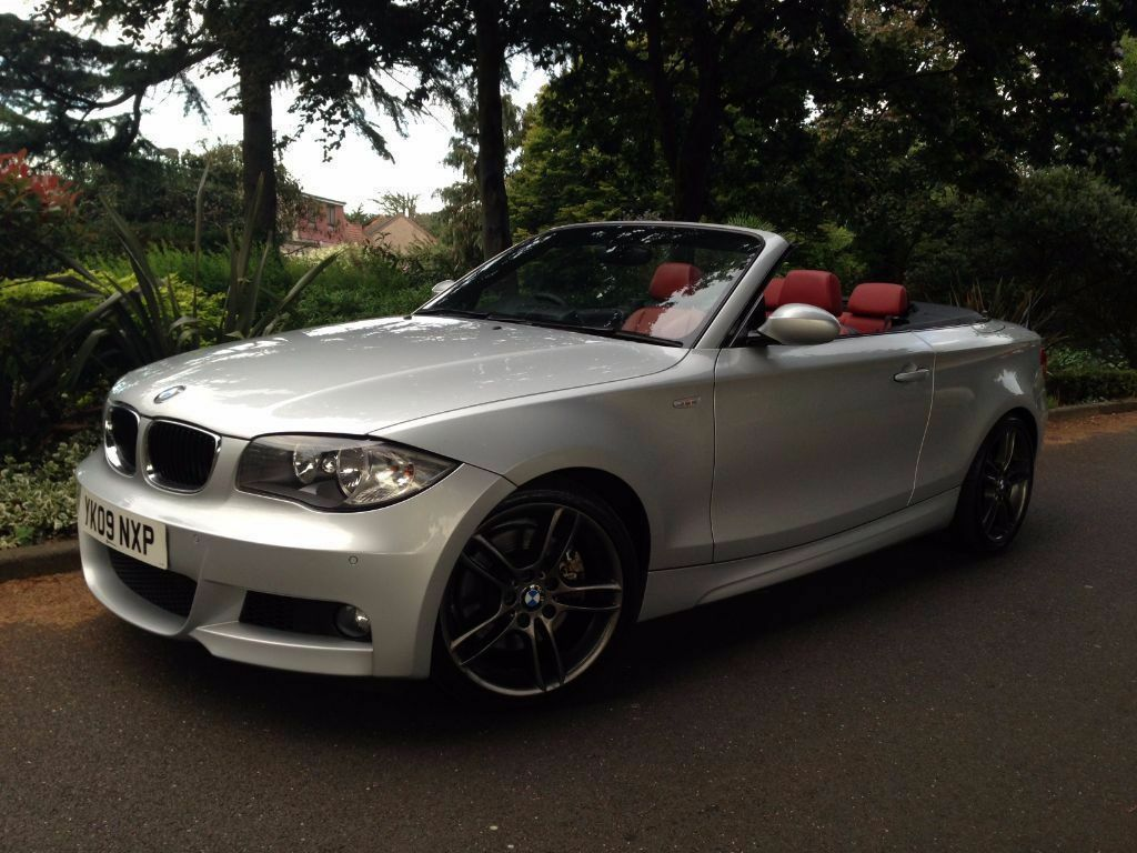 2009 bmw 1 series 123d m sport convertible red leathers. Black Bedroom Furniture Sets. Home Design Ideas