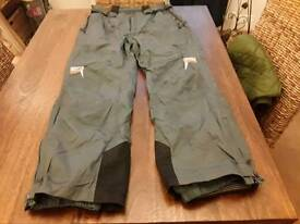 THERMAL INSULATED WATERPROOF TROUSERS SIZE L