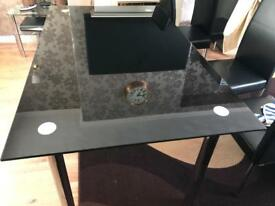 Glass dining table for 6 people without chairs only£55