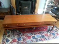 "Mid century modern /retro Greaves and Thomas (Heals) ""floating"" drawer table / sideboard."