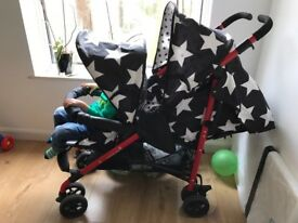Cosatto Shuffle Tandem Double Buggy - Barely Used, Excellent Condition