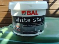 £50 only for 5 x TUBS BAL WHITE STAR.WALL ADHISEVE ,READY MIX,