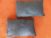 "2 Lovely Ikea Denim Cushions (Each approximately 18"" x 11"") in Very Good Condition - Only 50p each!"