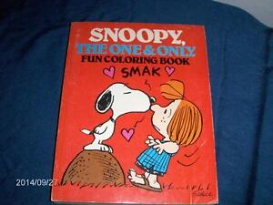 VINTAGE SNOOPY COLORING BOOK-THE ONE & ONLY-1980-PEANUTS